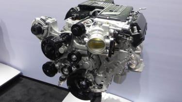 Chevrolet Corvette Z06 supercharged V8 engine
