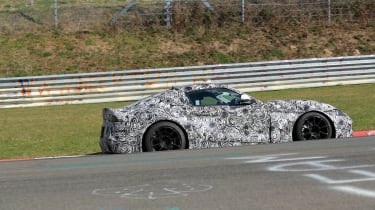 Toyota Supra spy shots - side profile