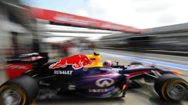 Red Bull Sebastian Vettel Formula 1 car championship leader