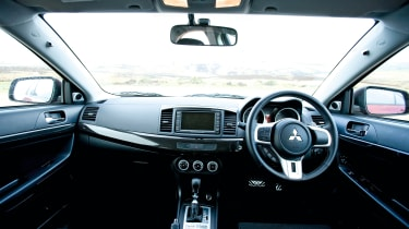 Mitsubishi Lancer Evolution X cabin