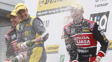 British Touring Cars Donington Park race 3 podium