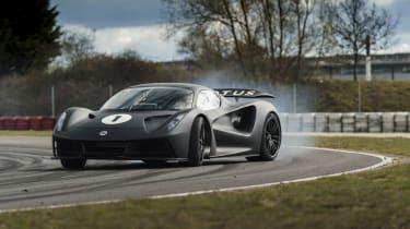 Lotus Evija testing – sideways