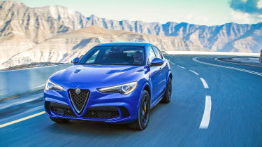Alfa Romeo Stelvio QV drive - front quarter