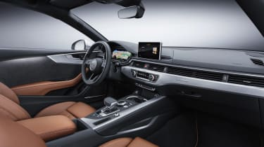 Audi A5 coupe silver - studio interior 2