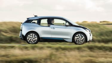 BMW i3 silver side profile
