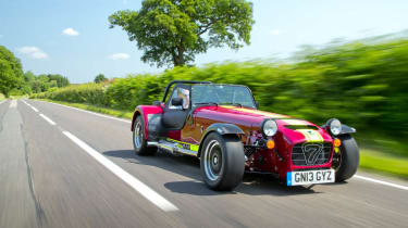 New Caterham 620R red and yellow