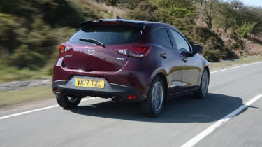 2017 Mazda 2 - rear purple