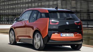 BMW i3 orange rear