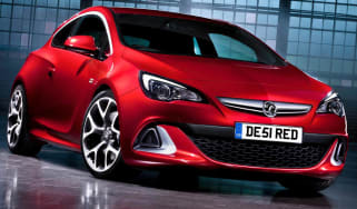 New Vauxhall Astra VXR front view