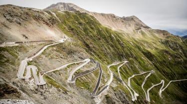 Alfa Romeo Stelvio on the Stelvio Pass