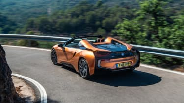 BMW i8 Roadster rear cornering
