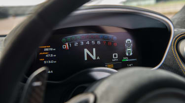 McLaren 570S Track Pack - gauges