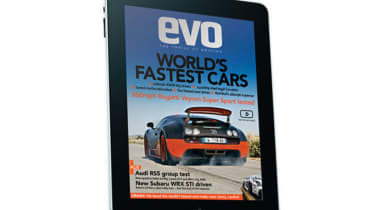 evo magazine on the iPad