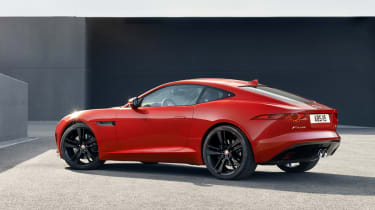 Jaguar F-type S Coupe red rear