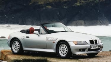 BMW Z3 silver front