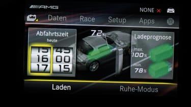 Mercedes SLS AMG Electric Drive display