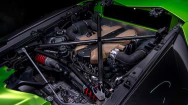 Lamborghini Aventador SVJevo engine