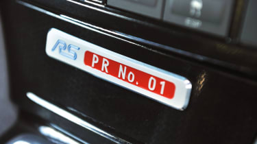 Ford Focus RS500 numbered plaque