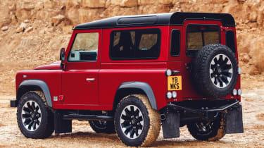 Land Rover Defender Works V8 – rear quarter