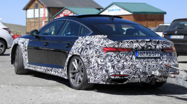 Audi A5 Sportback spy - rear quarter