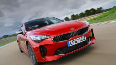 Kia Stinger GT-S UK - front tracking