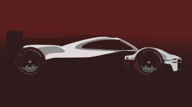 Porsche LMDh racer 2023 side