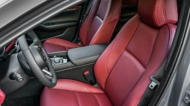 New Mazda 3 Skyactiv-X 2019 review front seats