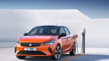Vauxhall Corsa-e - plugged