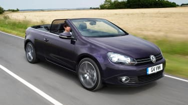 VW Golf Cabriolet purple front