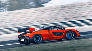 McLaren Senna at silverston - side