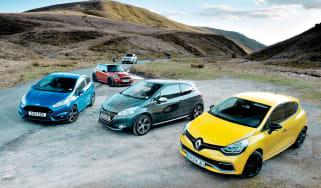 Ford Fiesta ST v Peugeot 208 GTI v Nissan Juke Nismo v Mini Cooper S JCW v Renault Clio 200 Turbo
