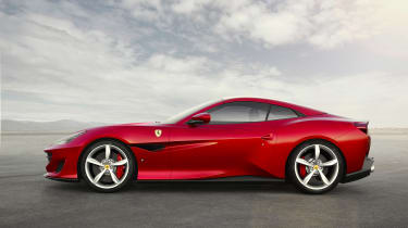 Ferrari Portofino - profile roof up