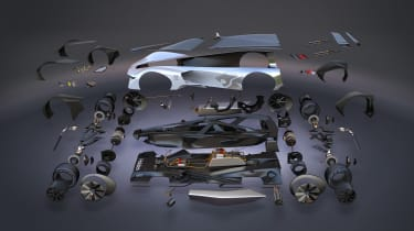 Holden Time Attack concept - exploded view