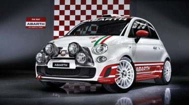 Abarth 500 rally car