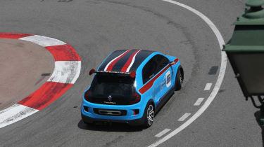Renault TwinRun V6 hot hatch concept Monaco hairpin