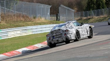 Toyota Supra spy shots - rear