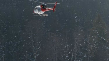 McLaren MP4-12C helicopter chasing