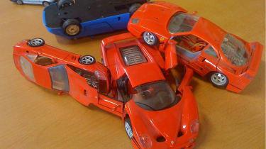 Ferrari crash front