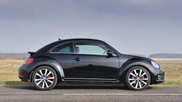 2013 Volkswagen Beetle Turbo Silver side profile
