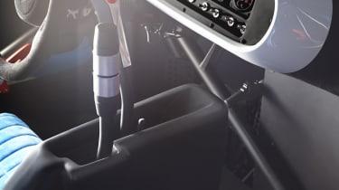 Renault TwinRun V6 hot hatch concept interior gearstick