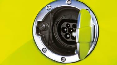Mercedes SLS AMG Electric Drive fuel flap