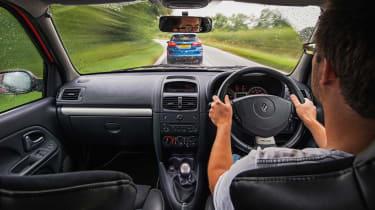 Clio Trophy interior driving -