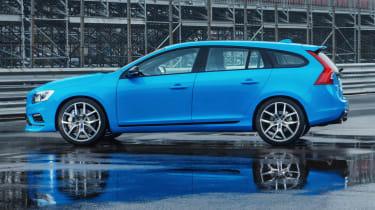 Volvo V60 Polestar blue side