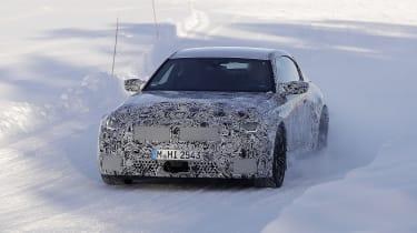 2022 BMW M2 spied nose