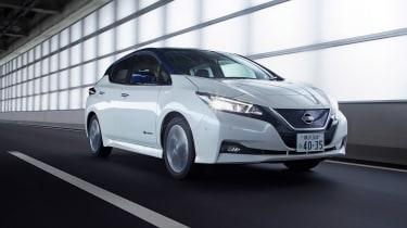 Nissan Leaf drive Japan - front quarter