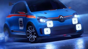 Renault TwinRun V6 hot hatch concept front LED spotlights