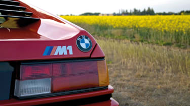 BMW M1 – rear closeup