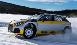 Audi A1 Quattro WRC2 rally car - side