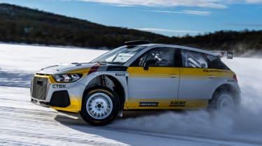 Audi A1 Quattro WRC2 rally car - side