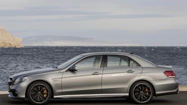 2013 Mercedes-Benz E63 AMG saloon side profile